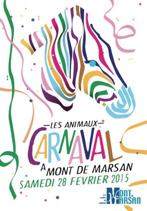 image-lien : Affiche Carnaval 2015 à Mont de Marsan et lien vers site internet www.facebook.com album photos