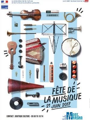 image : Affiche fête de la musique 2017